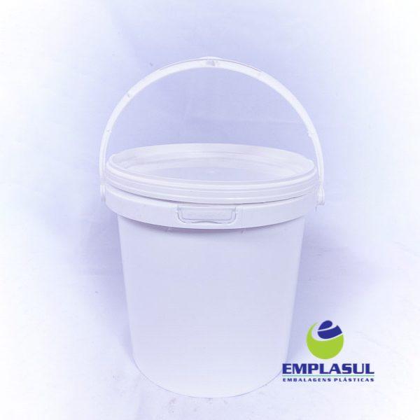 Balde 3,6 Litros de plástico branco da marca Emplasul