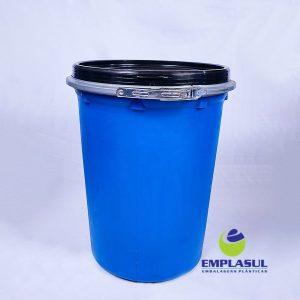 Balde 50 Litros cilíndrico na cor azul