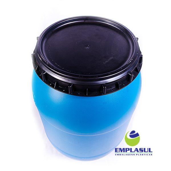 Bombona 200 Litros rosca azul de plástico da marca Emplasul