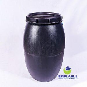 Bombona 200 Litros rosca preta de plástico da marca Emplasul