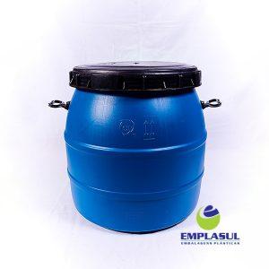 Bombona 120 Litros rosca azul de plástico da marca Emplasul