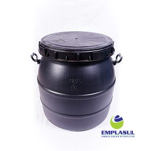Bombona 120 Litros rosca preta de plástico da marca Emplasul