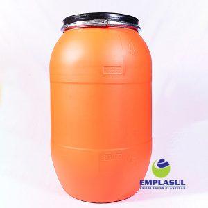 Bombona 200 Litros Laranja de plástico da marca Emplasul