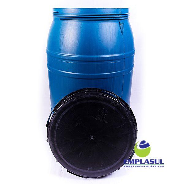 Bombona 220 Litros rosca azul de plástico da marca Emplasul