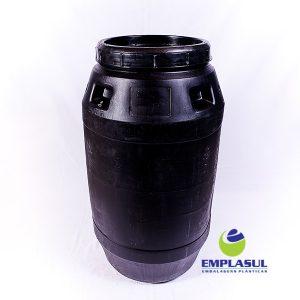 Bombona 220 Litros Preta com Rosca Higienizada da marca Emplasul